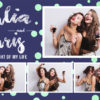 purple and green polka dots photobooth template