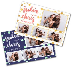 Classy-Polka-Dots 4x6 postcard photobooth template