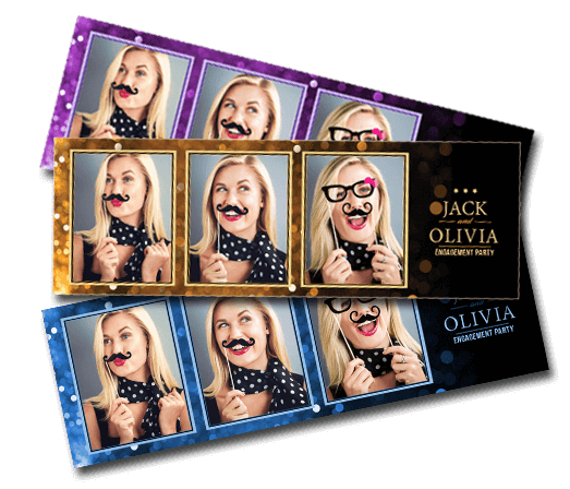 fade to sparkle - portrait booth template