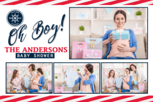 oh boy baby shower template