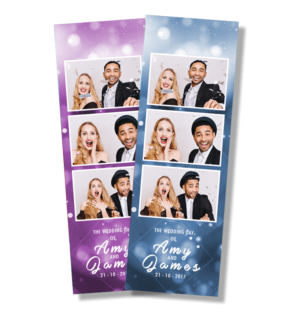 Blurred Lights Photobooth Template