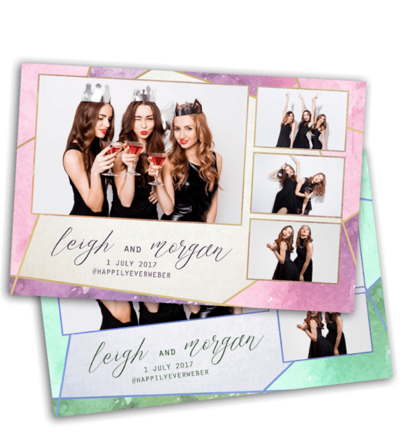 Gemetric Gems Photobooth template
