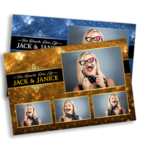 Black & Gold Sparkle Postcard