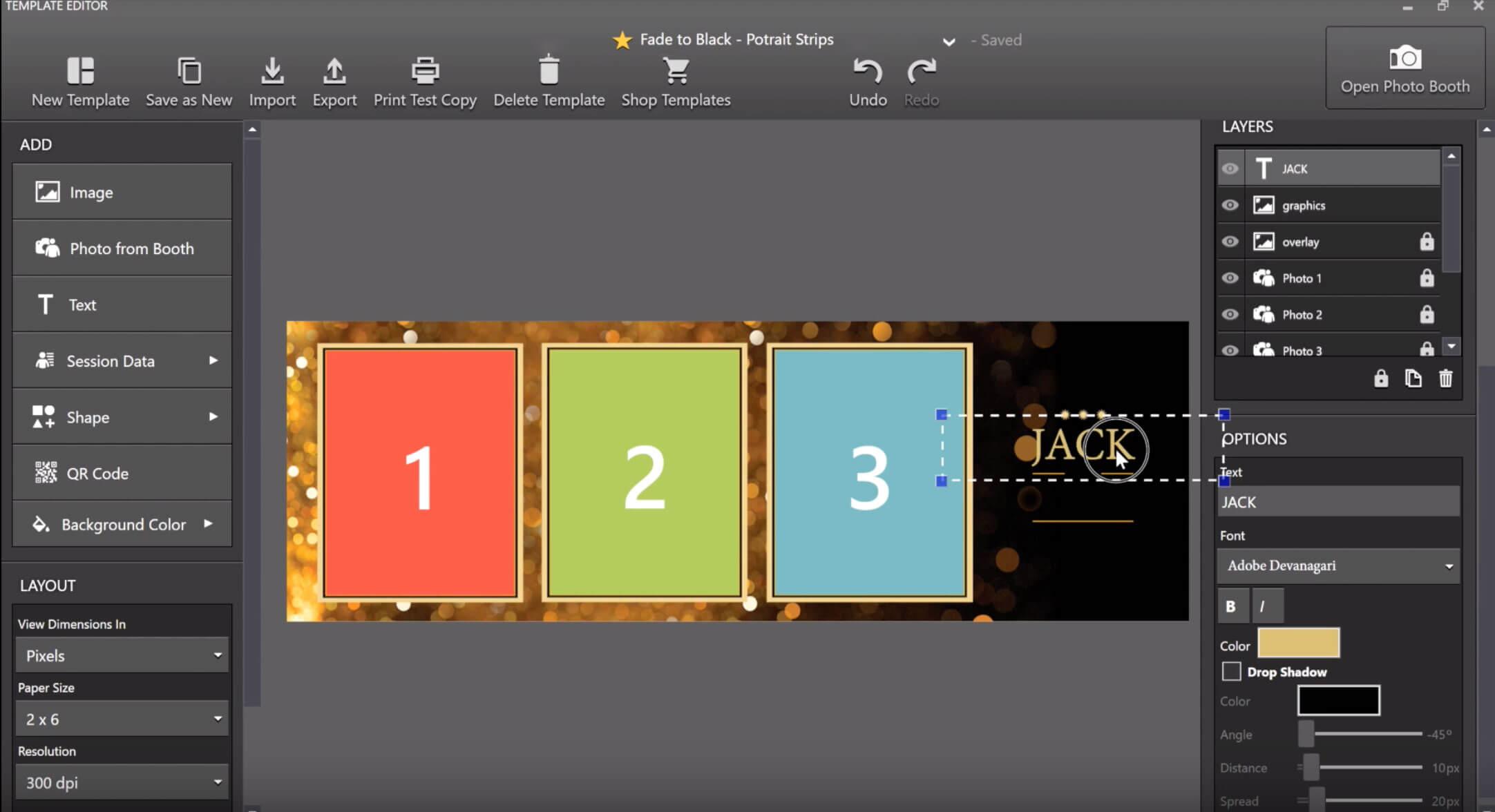 DslrBooth Edit Window
