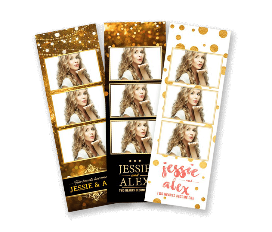 Metallic Gold Photostrips