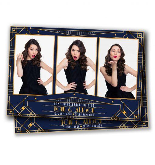 Gatsby Deco Mirror Booth Postcard