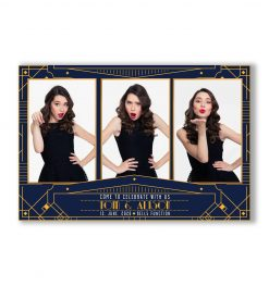 Gatsby Deco Mirror Booth Postcard