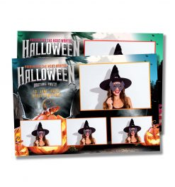 Spooky Halloween Postcard