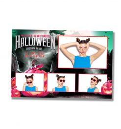 Spooky Halloween Postcard Template