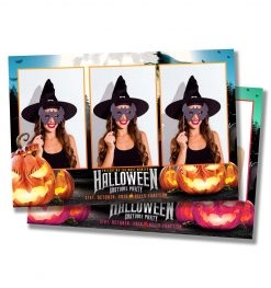 Spooky Halloween Postcard Mirror Booth