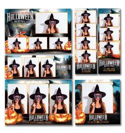 Spooky Halloween Template Set