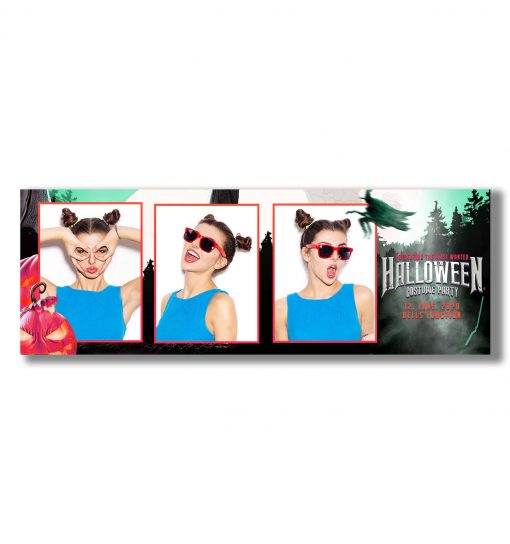 Spooky Halloween Mirror Booth Template