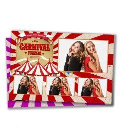Carnival Funfair Postcard