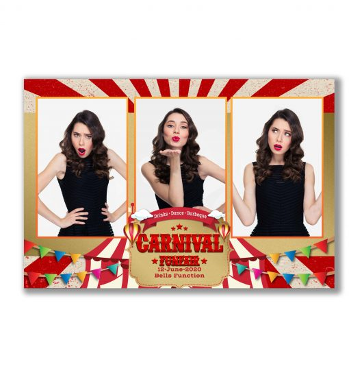 Carnival Funfair Mirror Booth Template