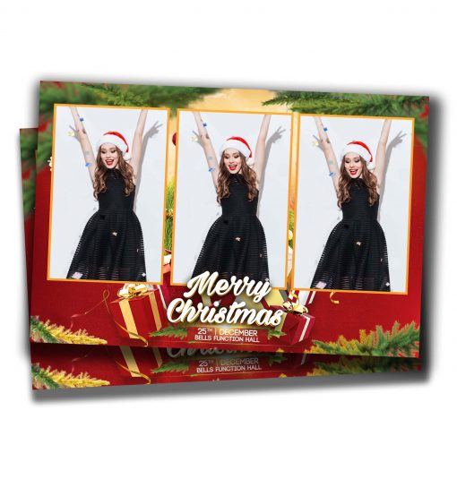 Mistletoe Mania Portrait Postcard Template