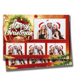 Mistletoe Mania Postcard Template