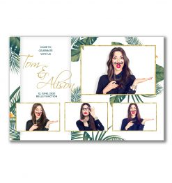 Tropical Paradise Postcard Template