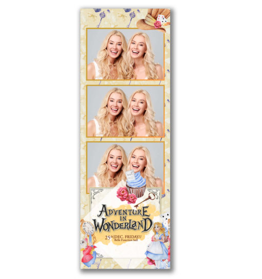 Adventure in Wonderland Portrait 3 Strip Template