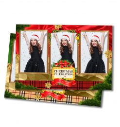 All Wrapped Up Portrait Postcard Template