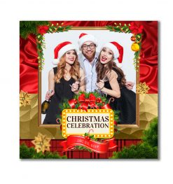 All Wrapped Up Portrait Square Template