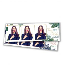 Tropical Paradise Portrait Strips Template