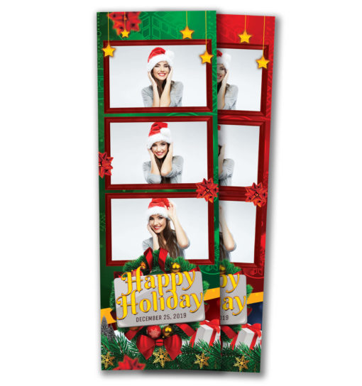 Holiday Cheer 3 Strip Template