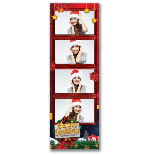 Holiday Cheer 4 Strip Template