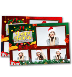 Holiday Cheer Postcard Template
