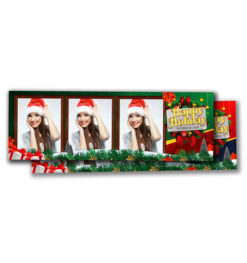 Holiday Cheer Portrait Strip Template