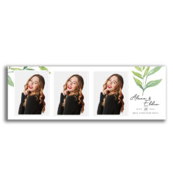 Watercolour Leaves Portrait Strips